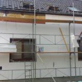 Stavebná spoločnosť QUATTRO-H - práce na fasáde rodinného domu v Tomášove marec 2017